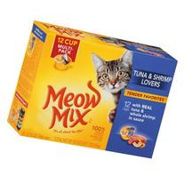 Meow Mix Tender Favorites With Real Tuna & Whole Shrimp in