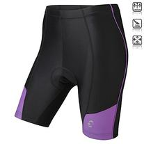 Tenn Ladies Coolflo 8 Panel Padded Cycling Shorts - Black/