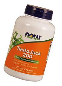 Now Foods Testo Jack 200 Extra Strength Veg Capsules, 120