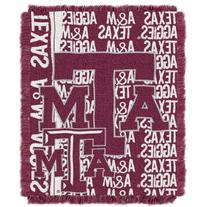 Texas A & M Aggies NCAA Triple Woven Jacquard Throw