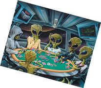Texas Hold'em Poker UFO Alien Motivational Poster Art Print