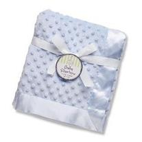 Baby Starters Textured Dot Blanket with Satin Trim RPBSBL-