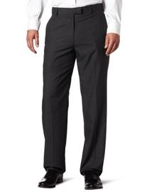 Haggar Men's Textured Pinstripe Tailored Fit Plain Front