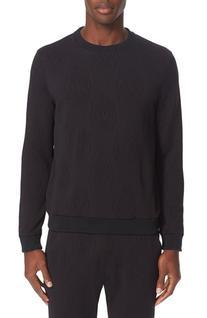 Men's Versace Jeans Textured Sweatshirt, Size Medium - Black