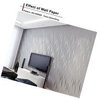 Homdox Textured Wallpaper, Modern Non-Woven 3D Wave Pattern