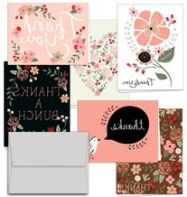 Thank You Potpourri - 36 Thank You Cards - 6 Designs - Blank