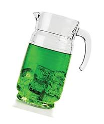 Circleware Theory Glass Beverage Pitcher, 64 ounce
