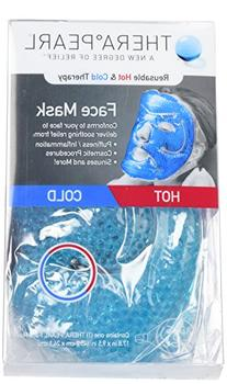 TheraPearl Face Mask, Reusable Hot Cold Therapy Mask with