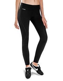 Women's Thermal Fleece Running Cycling Tights Black Size XL