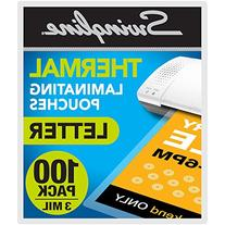 Swingline Thermal Laminating Sheets/Pouches, Letter Size