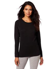 Duofold Women's Mid Weight Wicking Thermal Shirt, Black,