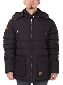 Luciano Natazzi Mens Thermal Padded Down Jacket Removable