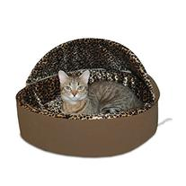 K&H Manufacturing Thermo-Kitty Bed Dlx Hooded Small Mocha