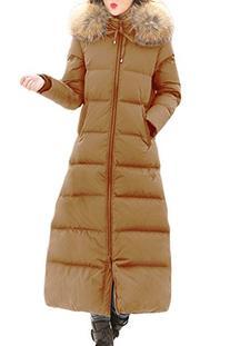 XIAOLV88 Women's Thick Warm Fur Collar Hooded Winter Long