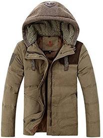 Top-EC Men's Thicken Down Winter Coats Trench Jacket Hooded,