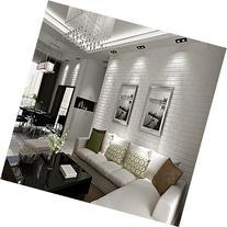 QIHANG 10m Thickening White Brick Wallpaper for Walls Rustic