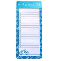 Things to Do Magnetic Notepad Ruled - Bicycle Design - 100