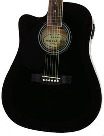 Full Size Thinline Black Acoustic Electric Guitar with Free
