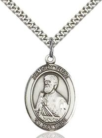 """Men's St. Thomas the Apostle Sterling Silver Medal with 24"""""""