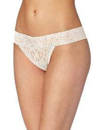 Maidenform Women's Lace Thong Panty, Tenacious Teal Stripe,