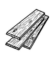 """Thunderbird Forest Oak Boards 1 """" X 6 """" X 4 ' Oak"""