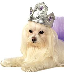 Rubies Costume Company Silver Tiara with Purple Stones Pet