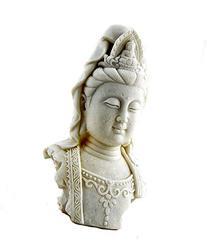 Tibet Buddha Bust Meditating Peace Harmony Statue Kuan Yin