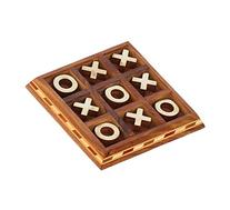 BEST Tic Tac Toe - SouvNear Wood Board Game 5.5 Inch  -