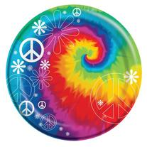 "Creative Converting-Tie Dye Fun 8 3/4"" Plates  8 count"