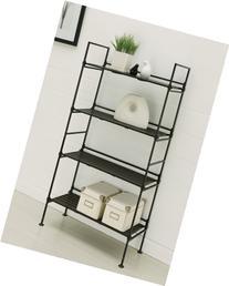 Neu Home 97204 25.38 x 11.38 x 45.38 4 Tier Shelf - Black