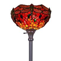 Amora Lighting Tiffany-style AM040FL14 Dragonfly Torchiere