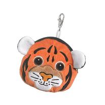 Tiger Stuffed Animal Plush Pouch Purse Animal Case Clip on