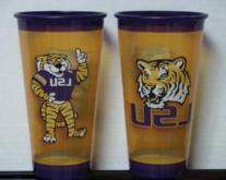 32 oz LSU Tigers Souvenir Plastic Cup Set