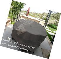 "Premium Tight Weave Patio Set Cover 110""x65""X38"" H, Oval"