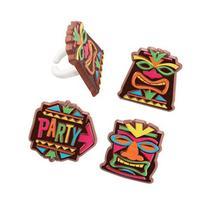 Tiki Party Cupcake Rings