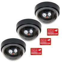 VideoSecu 3 Fake Dummy Dome Imitation Security Cameras