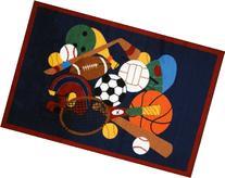 Fun Rugs Fun Time Sports America Home Decorative Accent Area