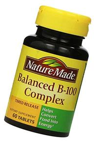 Nature Made Time-Release Balanced B-100, 60 Tablets