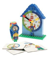 LEGO Time Teacher 9005008 Blue Set with Plastic Watch,