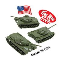 TimMee Toy TANKS for Plastic Army Men: Green WW2 3pc - Made