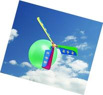 Zirrly Tint N' Color Flying Helicopter Balloon Party Favor,