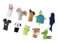 IKEA Titta Djur 10 pc Animal Finger Puppet Set