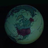 Towallmark6 Inch  Rotation Blue Ocean Desktop World Earth