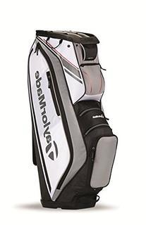 TaylorMade TM15 San Clemente Golf Cart Bag, White/Black/Gray