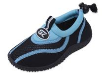 New  Brand Toddler's Blue & Black Athletic Water Shoes Aqua