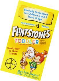 Flintstones Toddler Chewable, 80 Count