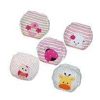 Baby Toddler Girls Cute 5 Pack Potty Training Pants Reusable