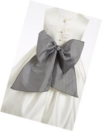 Toddler Girl's Us Angels Gingham Sash, Size 2-4 T - Black
