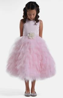 Toddler Girl's Us Angels Satin & Tulle Dress, Size 2T - Pink