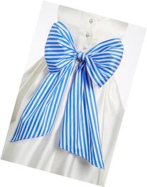 Toddler Girl's Us Angels Stripe Sash, Size 2-4 T - Blue